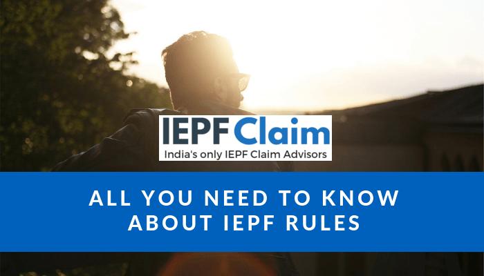 IEPF claim process rules.