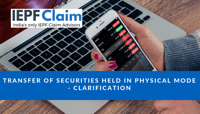 transfer of securities in physical state